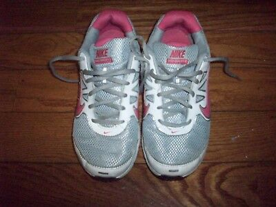 53e34067e Nike Shox Qualify 2 Girls Youth Athletic Shoes Size 5.5Y White Gray Pink  Silver