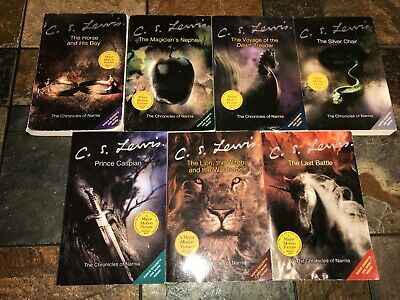 C.S. Lewis The Chronicles of Narnia complete set 7 trade paperback books