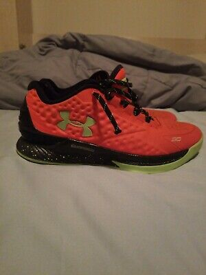 best website 4c0b4 df230 Mens Under Armour Steph Curry One 1 Low Sneakers Mens 9, Bolt Orange