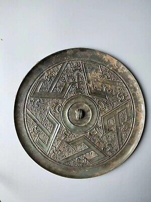 """China Ancient Tang Dynasty Old Bronze Dressing Toll Five""""山""""Pattern Mirror Rare"""