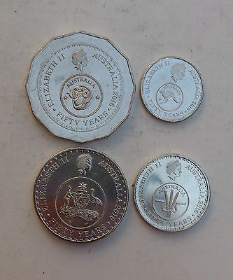2016 Australian Change Over Coins (50, 20, 10 and 5 cent ) - Low Mintage