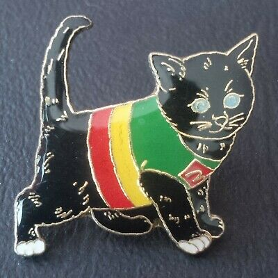 RARE pin pin's Mc Donald's Mc Do Chat Cat animal food alimentation # noir black