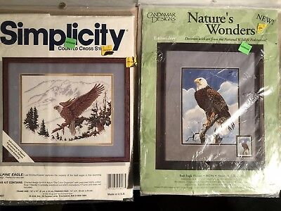 AMERICAN Alpine Bald EAGLE Cross Stitch CREWEL Kits Crafts DIY NEW SEALED