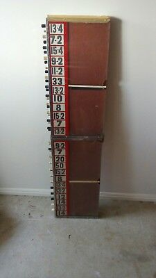 Bookmakers Board - Old Imperial (fractions) style - very rare.