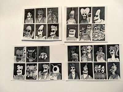 27 Stickers set of Futurama Horror lowbrow art surreal outsider