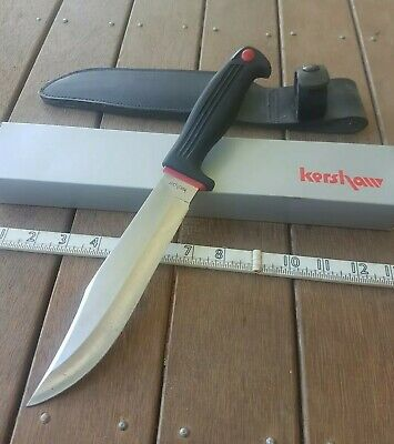Vintage kershaw 1015 kai japan bowie survival military hunting knife