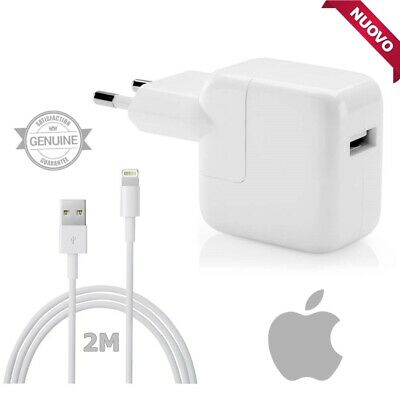 Alimentatore Originale Apple Caricabatteria Rapido A1401 + Cavo MD819 Per iPhone