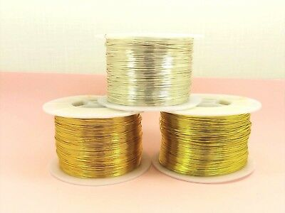 2M or 5M Tarnish Resistant COPPER Brass Artistic Craft Beading WIRE DIY 0.8-1mm