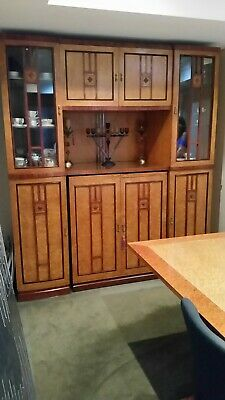 Art Deco Style Display Sideboard Cabinet Cupboard Birdseye Veneer