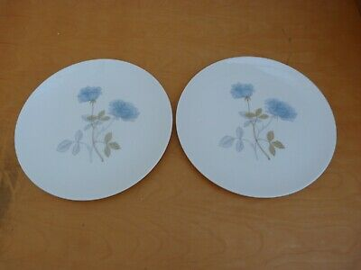 2 Collectable Bone China Wedgwood Ice Rose Large Dinner Plates 27cms