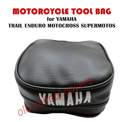 YAMAHA TOOL BAG POUCH BLACK for REAR FENDER MUDGUARD TRIALS ENDURO TRAIL