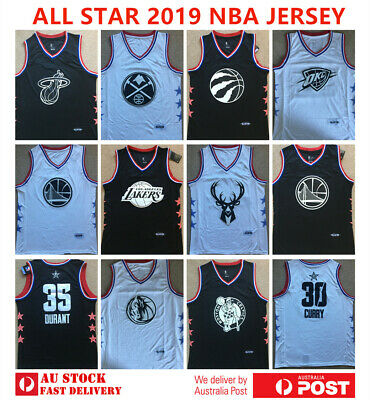All Star 2019 Nba Jersey - Curry Irving Wade Durant Leonard James George Jokic