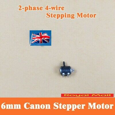 2 Phase 4 Wire Micro Stepper Motor Shaft Dia 1mm For 6mm Canon Camera #M63