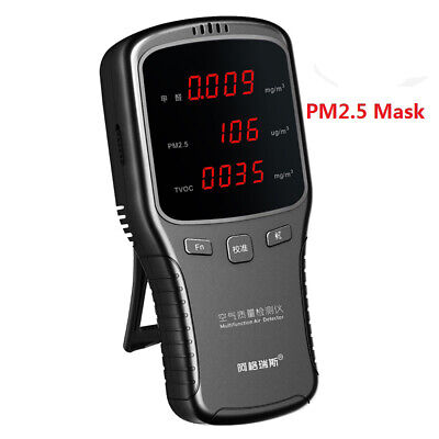 Air Quality laser Monitor HCHO TVOC PM2.5 PM10 Formaldehyde Detector Tester 1pc