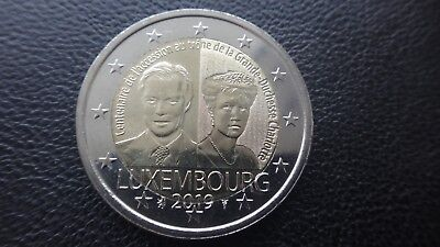 Luxembourg 2 euro  coin UNC 2019 the throne of Grand Duchess Charlotte