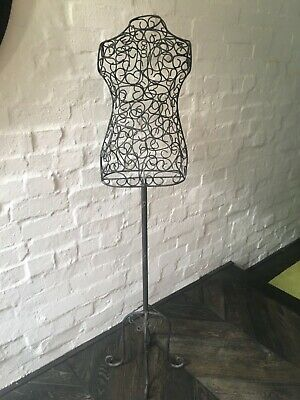 Decorativ Dress Form Mannequin Dummy Stand Female Wire Vintage Style Size 10ish