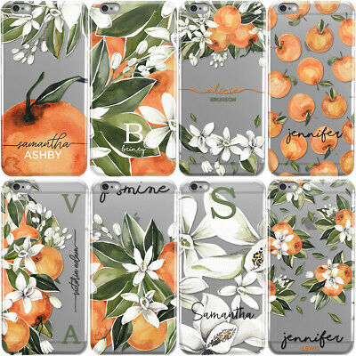 Personalised Initials Phone Case Floral Hard Cover For Samsung A3 A5 A7 A8 A9