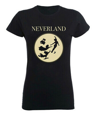 Disney Peter Pan 'Moon Silhouettes' Womens Fitted T-Shirt - NEW & OFFICIAL