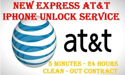 INSTANT FACTORY UNLOCK SERVICE AT&T CODE ATT for IPhone 4 5 5S 6 6s SE 7 8 X XR