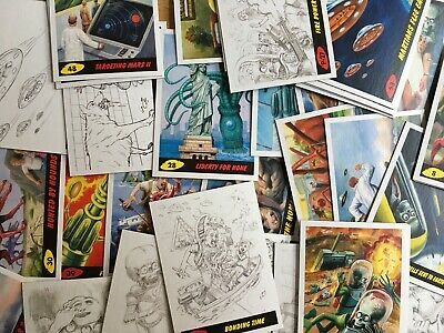 100 2017 Topps Mars Attacks The Revenge Cartas Coleccionables Evil Lote Desde