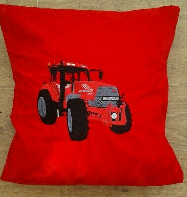 Embroidered McCormick tractor cushion