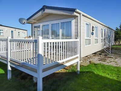 Private static caravan for sale sited at Steeple Bay, Essex. Lovely pitch