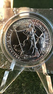 2012 Great Britain Britannia 2 Pounds 1oz Fine Silver Bullion Coin