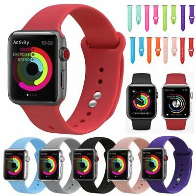 Replacement Silicone Sport Watch Band Strap Belt For Apple Watch Series 4/3/2/1