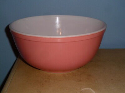 Used Vintage Pyrex Oven Ware Pink Nesting Mixing Bowl #403, 2 1/2 Qt 2.5 Quart