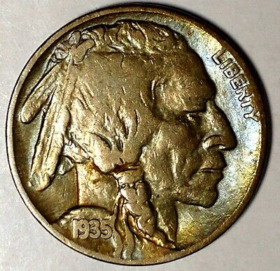 "1935-P 5C Buffalo Nickel, 18rr0821 ""Only 50 Cents for Shipping""*"