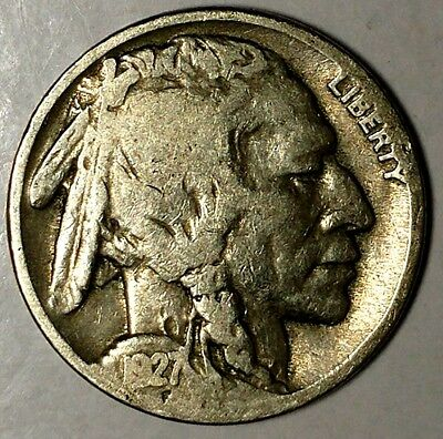 "1927-P 5C Buffalo Nickel, 18lsr1204-1 ""Only 50 Cents for Shipping"""