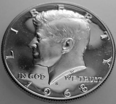"1968-S 50C Kennedy Half Dollar cct 40% Silver ""Gem Proof""  50 Cents Shipping"