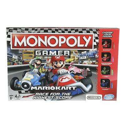Monopoly: Gamer Mario Kart Edition Board Game -Inspired By Mario Cart Game