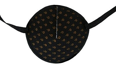 Eye Patch Tiny Brown Circles Soft  Washable for Left or Right Eye