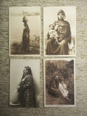 Antique Egyptian Woman~Girl of the Nile~Post Cards Circa 1900~Unused~Lot of 4