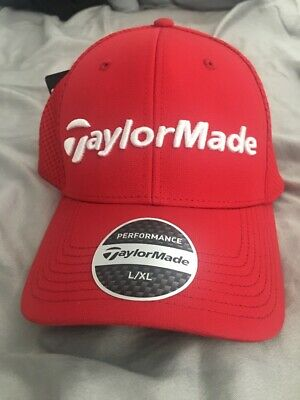 bf9fb84682379 TAYLORMADE PERFORMANCE CAGE Fitted Golf Hat - Red - New with Tags L ...