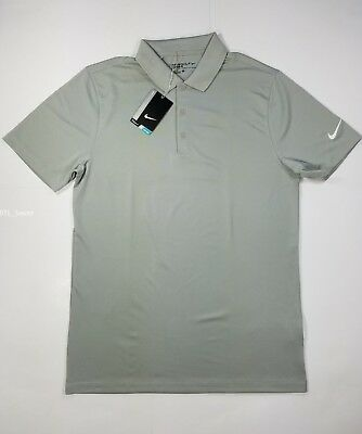 744824f8 NWT Nike Victory Solid Polo Men's Golf Shirt Pewter Grey 725518 093 S, M,