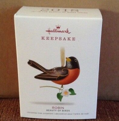 2018 Hallmark Keepsake Ornament Beauty of Birds Robin  14th in Series NIB