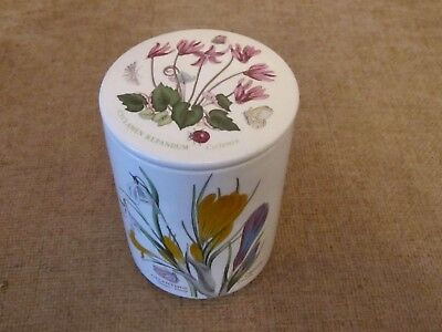 "Retired Botanic Garden 5.5"" High Lidded Storage Jar"