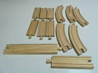 Toy Wooden Train Tracks -Tracks fit with Thomas track 13 pieces Curved Straight