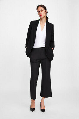 e59f68f34f ... Style Playsuit Dress Pleated Lapel Collar Belted Black XS 4 6. £49.99  Buy It Now 13d 1h. See Details. ZARA BLAZER WITH TURNED UP BUTTONED SLEEVES  FLOWY ...