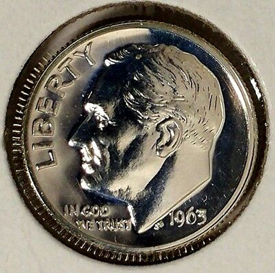 1963-P 10C Roosevelt Dime 18lsr0101 90% Silver Gem Proof  50 Cents for Shipping