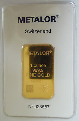 Metalor 1oz Gold Bar Sealed