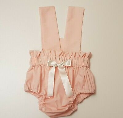 Beautiful Summer Pink Colour  Baby's Bloomer and headwrap set girls clothes New