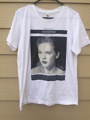 92da8ee88 TAYLOR SWIFT REPUTATION Tour Women's Casual Tee Shirt in White Size ...
