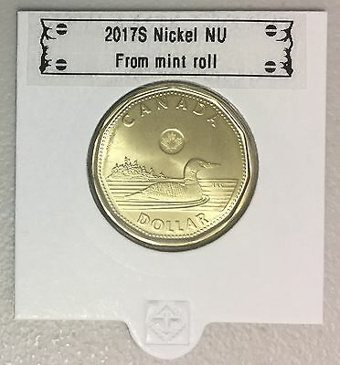 CANADA 2017 New $1 NO Circulation ORIGINAL COMMON LOON (BU From mint set roll)