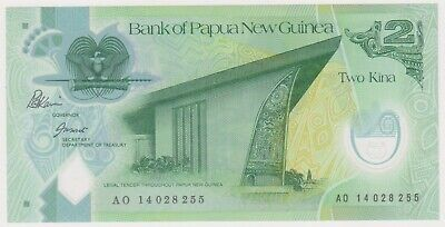 n25-55 be 2000s Png 2 Kina Bank Note