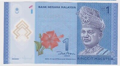 (N25-22) 2000s Malaysia 1 Ringgit Bank note (V)