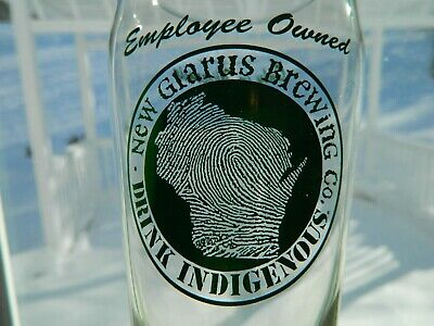 WISCONSIN Outline NEW GLARUS BREWING Co Drink Indigenous used CROWN Bottle Cap