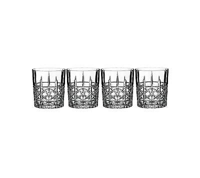 Marquis by Waterford Set of 4 Brady Double Old Fashioned Glasses Bad Box*